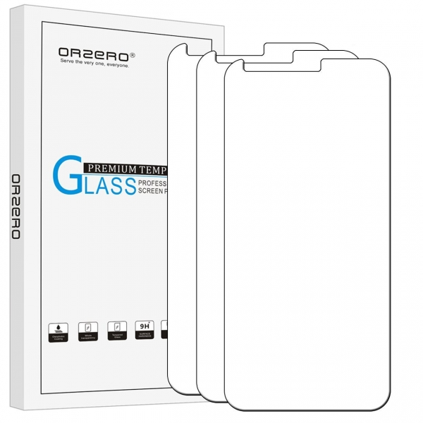 Orzero LG Q6 Temperli Cam Ekran Koruyucu (3 Adet)