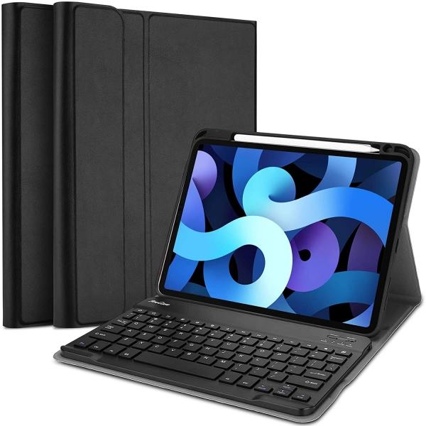 ProCase iPad Air 4 Kalem Bölmeli ve Klavyeli Kılıf (10.9 inç)