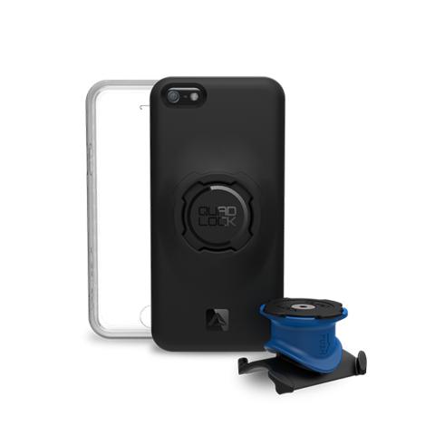 QUAD LOCK Apple iPhone 5/5S/SE Bisiklet Seti (Kılıf, Bisiklet İçin Tutucu ve Kapak)