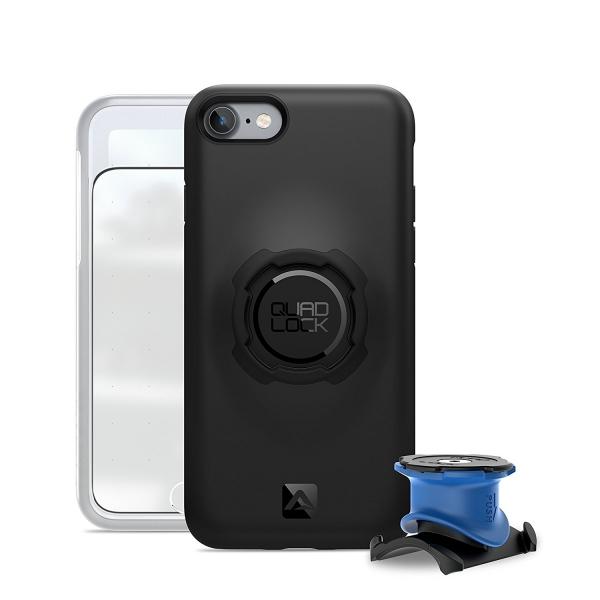 QUAD LOCK Apple iPhone 7 Bisiklet Seti (Kılıf, Bisiklet İçin Tutucu ve Kapak)