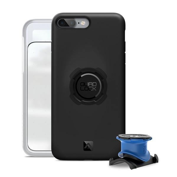 QUAD LOCK Apple iPhone 7 Plus Bisiklet Seti (Kılıf, Bisiklet İçin Tutucu ve Kapak)