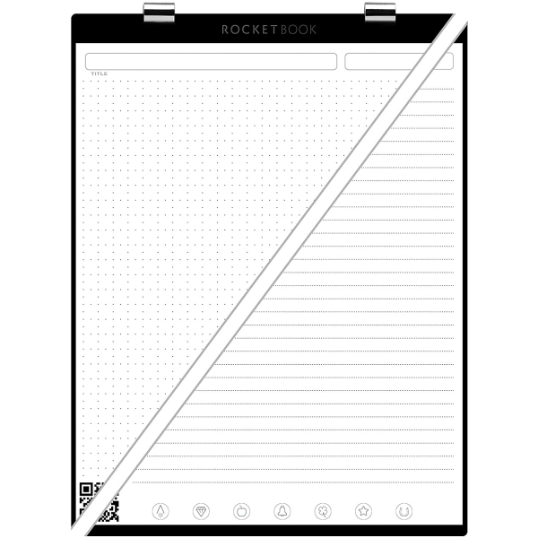Rocketbook Orbit Kareli ve Çizgili Sayfa Paketi (Letter)