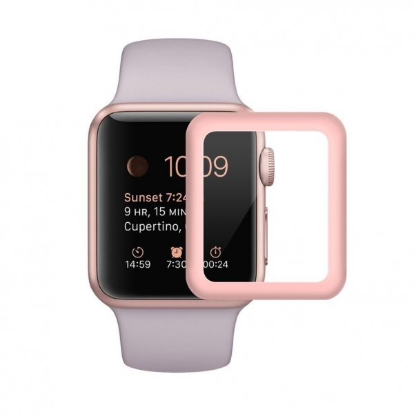 SUPTMAX Apple Watch Seri 3 Ekran Koruyucu (42mm) (Rose Gold)