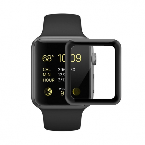 SUPTMAX Apple Watch Seri 3 Ekran Koruyucu (38mm) (Black)