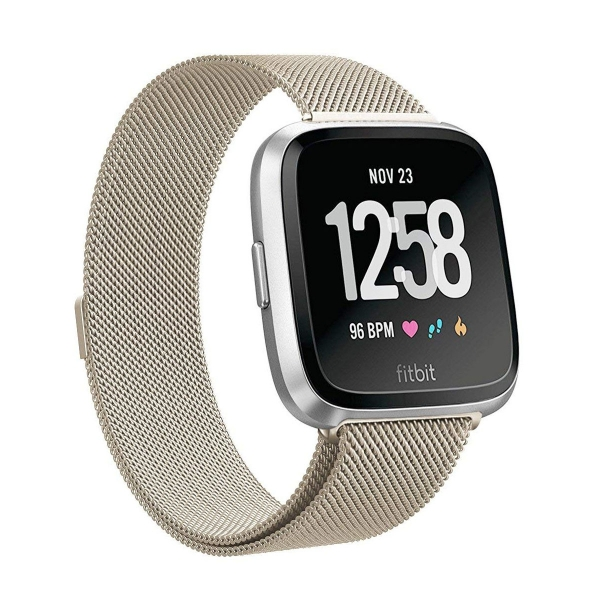 SWEES Fitbit Versa Paslanmaz Çelik Kayış (Small)
