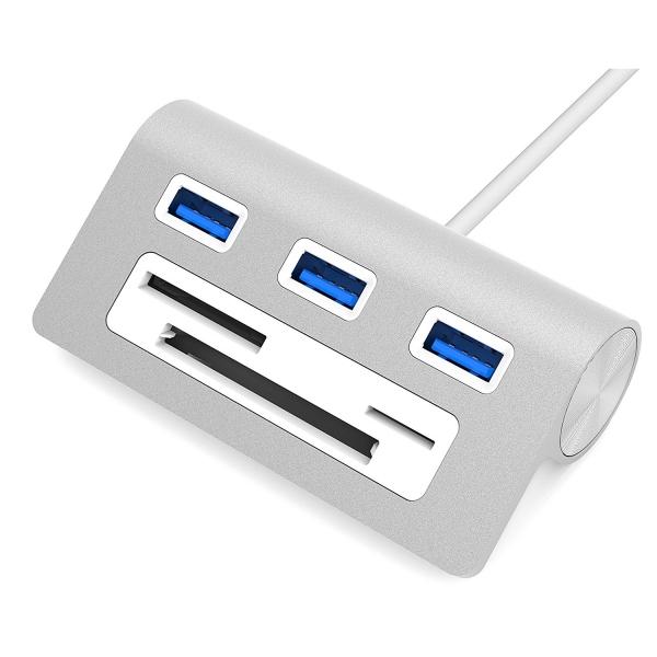 Sabrent Kart Okuyuculu 3 Bağlantılı Alüminyum USB 3.0 Şarj İstasyonu