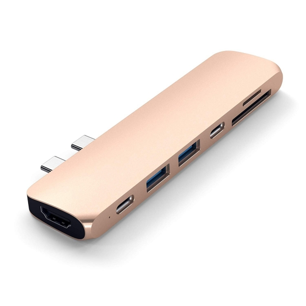 Satechi MacBook Pro 13 ve 15 inç Alüminyum Type-C Pro Hub Adaptör (Gold)