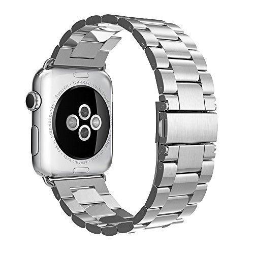 Simpeak Apple Watch Paslanmaz Çelik Metal Kayış (42mm)