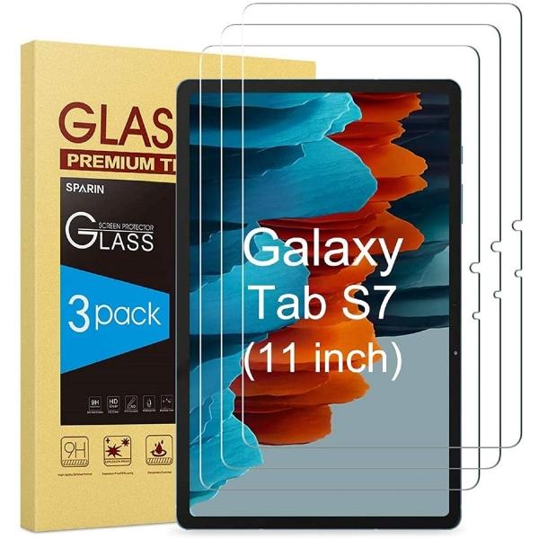 Sparin Samsung Galaxy Tab S7 11 inç 3 Paket Temperli Cam Ekran Koruyucu