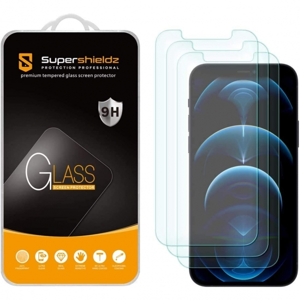 Supershieldz Apple iPhone 12 / 12 Pro Temperli Cam Ekran Koruyucu (3 Adet)