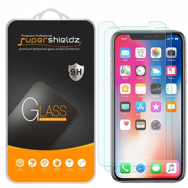 Supershieldz Apple iPhone X Temperli Cam Ekran Koruyucu (2 Adet)
