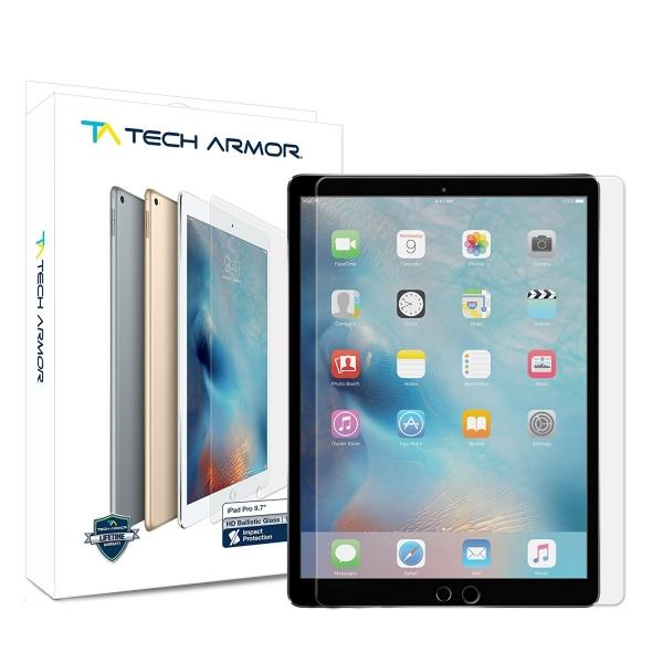 Tech Armor Apple iPad Pro Balistik Cam Ekran Koruyucu (9.7 inç)