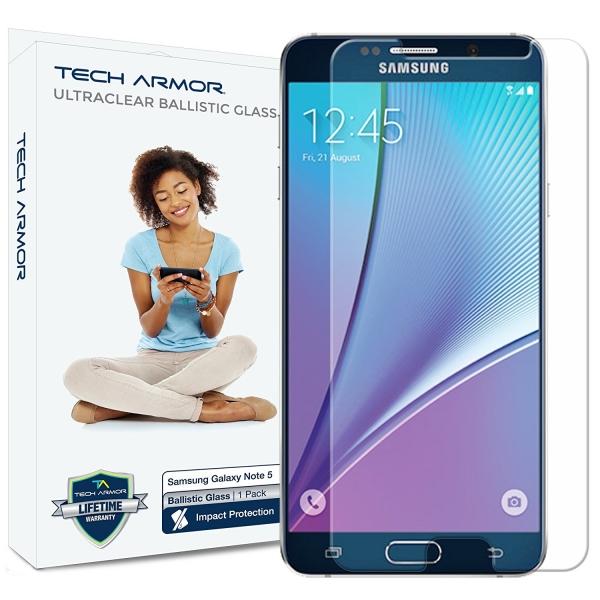 Tech Armor Samsung Galaxy Note 5 Premium Balistik Cam Ekran Koruyucu