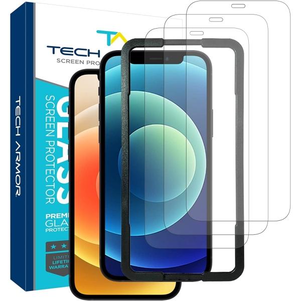 Tech Armor iPhone 12 Balistik Cam Ekran Koruyucu (3 Adet)