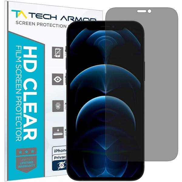 Tech Armor iPhone 12 Pro Max Privacy Ekran Koruyucu Film