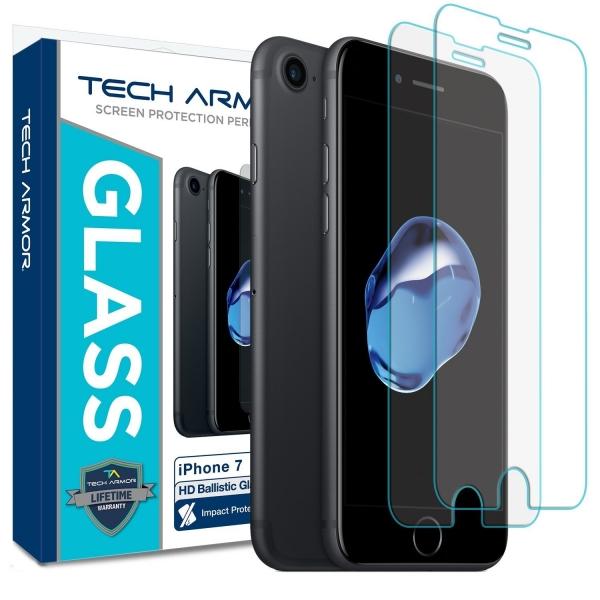 Tech Armor iPhone 7/6S/6 Balistik Temperli Cam Ekran Koruyucu (2 Adet)