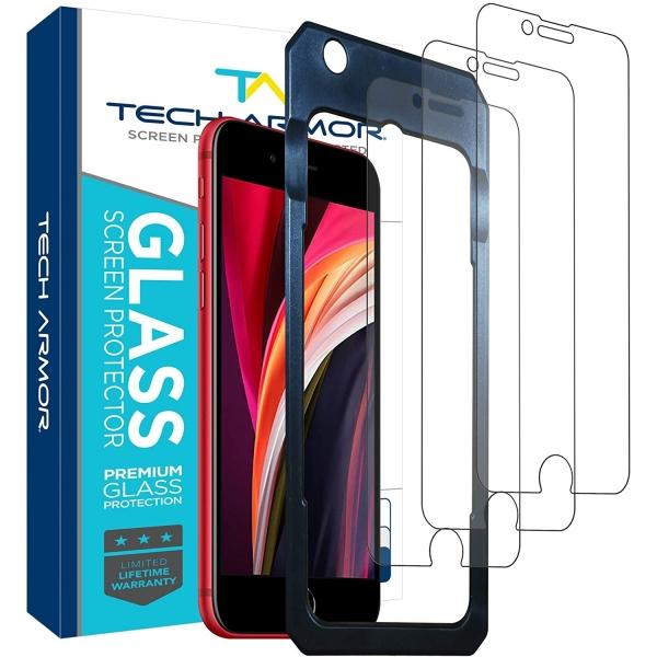 Tech Armor iPhone SE Balistik Cam Ekran Koruyucu(3 Adet)(2.Nesil)