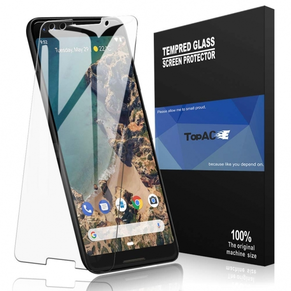 TopACE Google Pixel 3 Temperli Cam Ekran Koruyucu(2 Adet)