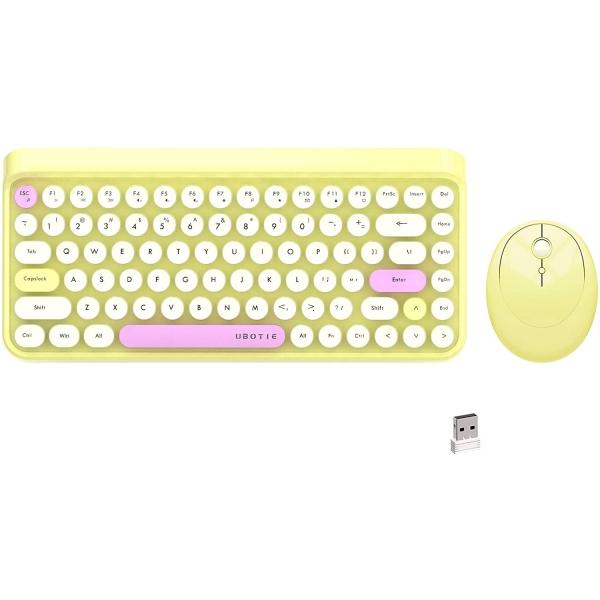 UBOTIE 84 Tuşlu Renkli Bluetooth Klavye Ve Mouse Set