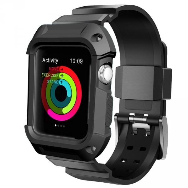 UMTELE Apple Watch 42mm Rugged Kılıf Kayış (2 Ekran Koruyucu Dahildir)