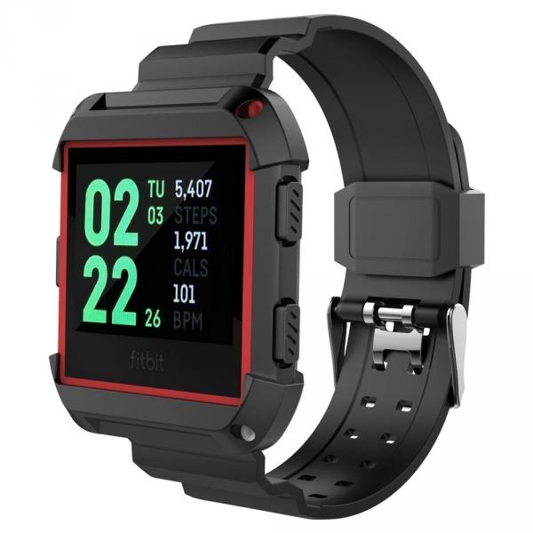 UMTELE Fitbit Ionic Rugged Pro Kılıf/Kayış