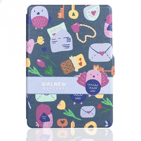 WALNEW Kindle Paperwhite Desenli Kılıf (6 inç)