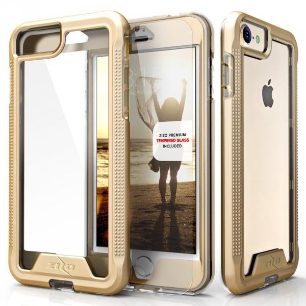 Zizo iPhone SE ION Serisi Şeffaf Kılıf (Mil-STD-810G)