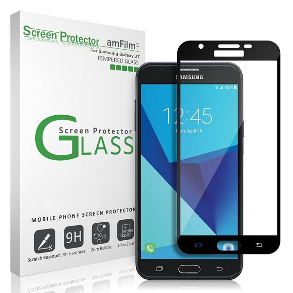 amFilm Samsung Galaxy J7 Temperli Cam Ekran Koruyucu