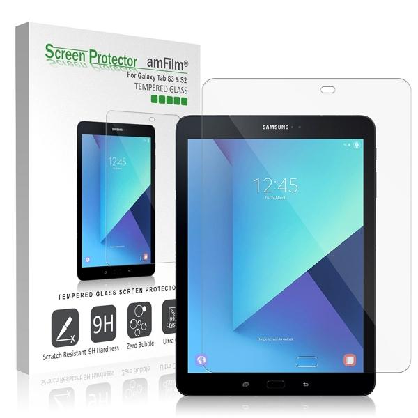 amFilm Samsung Galaxy Tab S3 Temperli Cam Ekran Koruyucu (9.7 inç)