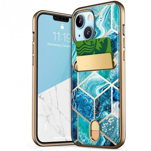 i-Blason Cosmo Serisi iPhone 13 Cüzdan Kılıf