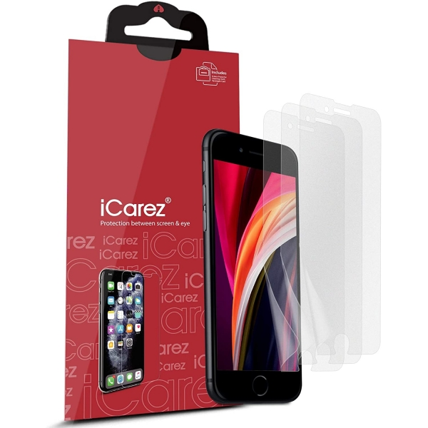 iCarez iPhone SE Mat Ekran Koruyucu Film (3 Adet)(2.Nesil)