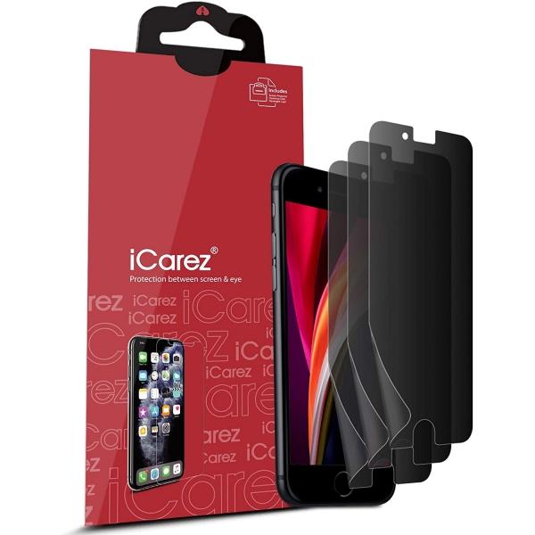 iCarez iPhone SE Privacy Film Ekran Koruyucu(4 Adet)(2. Nesil)