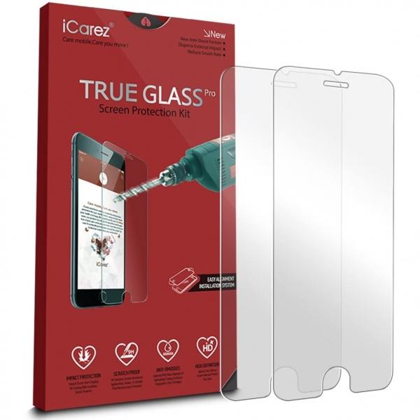 iCarez iPhone SE Temperli Cam Ekran Koruyucu (2 Adet)(2. Nesil)