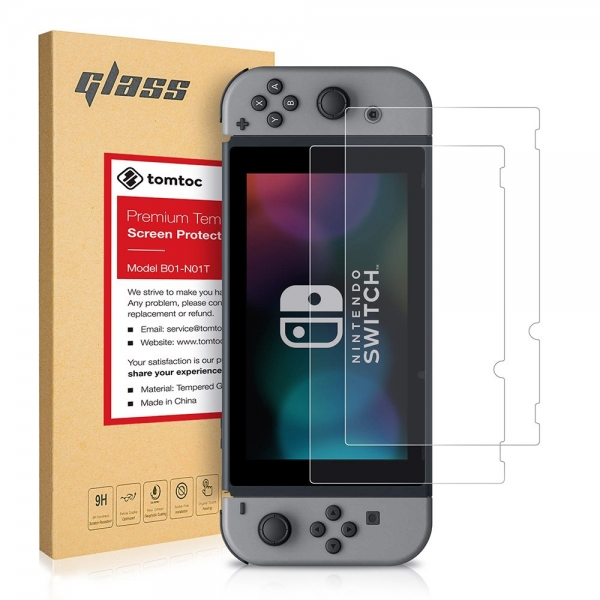 Tomtoc Nintendo Switch Temperli Cam Ekran Koruyucu (2Adet)